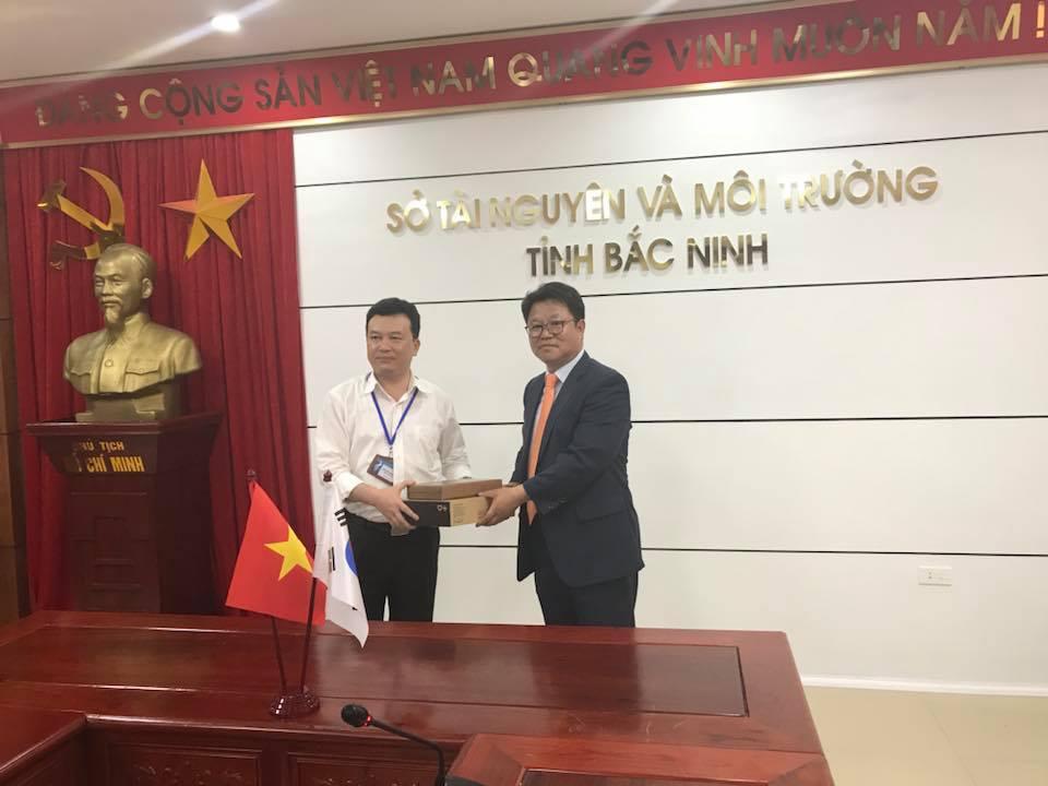Tọa đàm giữa Sở Tài nguyên và Môi trường tỉnh Bắc Ninh với đoàn xúc tiến thương mại của tỉnh GYEONG